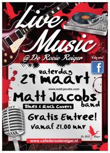 Rooie Reiger Standaard Live poster Matt Jacobs - 29 maart 2014